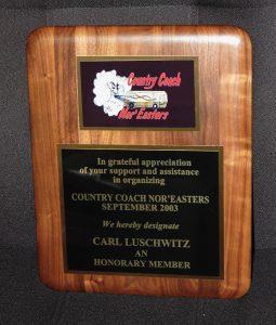 Country coach Plaque