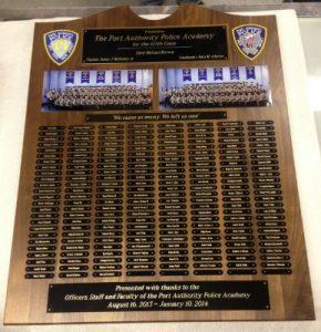 police academy plaque