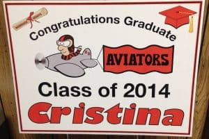Samson Graduation Signs